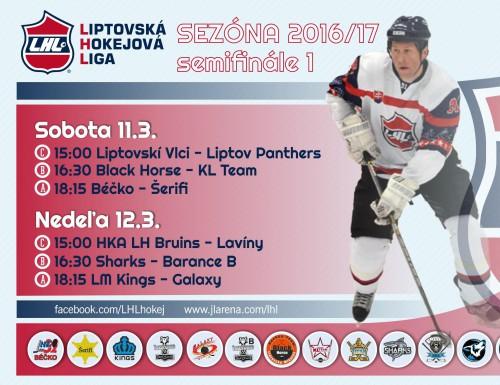 Semifinále LHL 1. kolo - výsledky