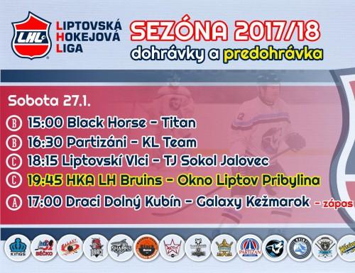 Dohrávy a predohrávka LHL 27.1.