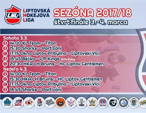 Štvrťfinále LHL - výsledky
