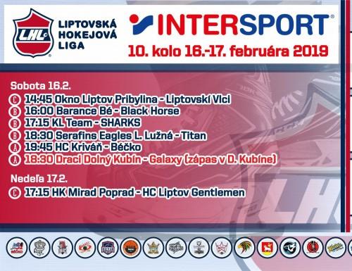 INTERSPORT 10. kolo LHL - výsledky