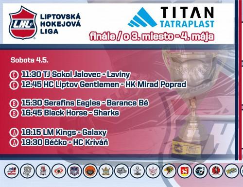Finále LHL a zápasy o 3. miesto - výsledky
