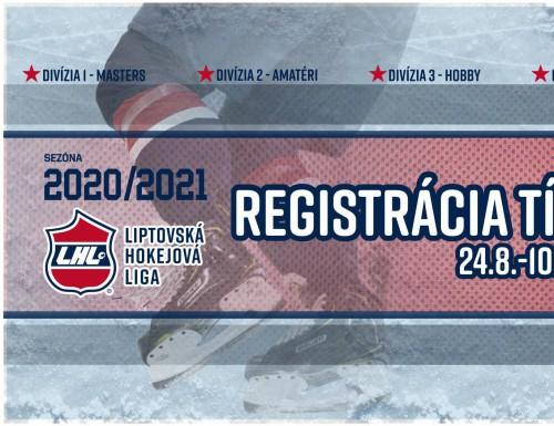 Registrácia tímov na nový ročník LHL 2020/2021 spustená