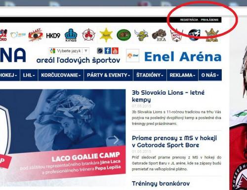 NOVINKA Online registrácia na tréningy