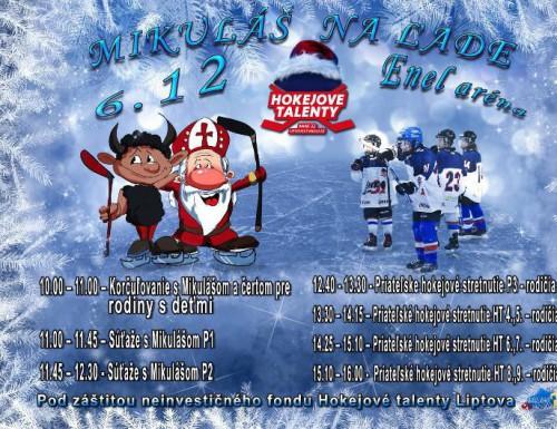 Hokejové Talenty - Mikuláš na ľade