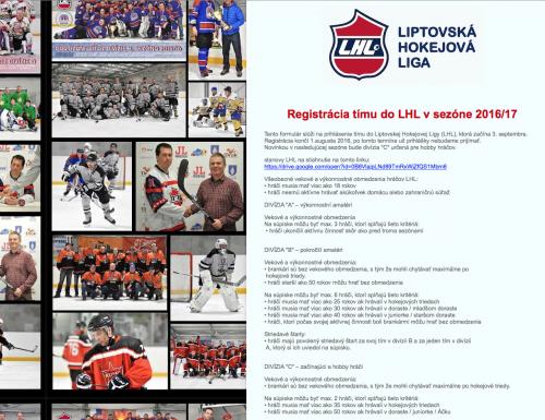 Registrácia na nový ročník LHL spustená