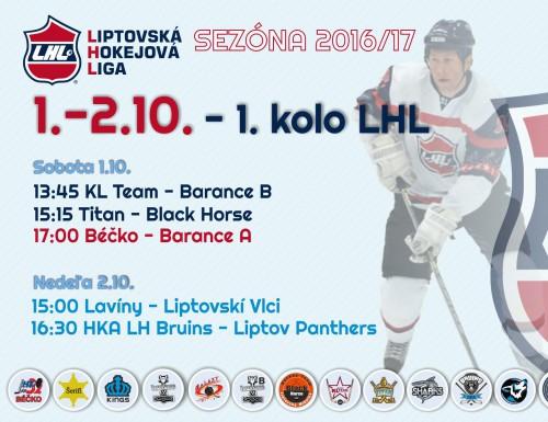 1.kolo LHL sezóna 16/17 - výsledky