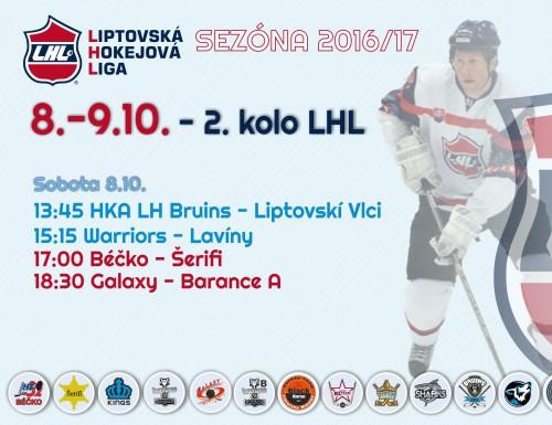 2.kolo LHL - výsledky